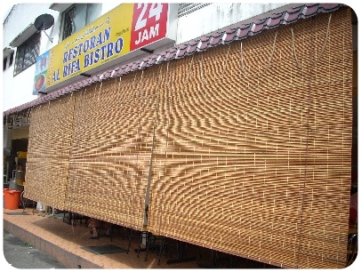 outdoor-Bamboo-blinds supplier in Puchong PJ KL Malaysia