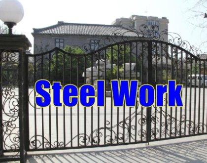 Steel Work Puchong gate Roof