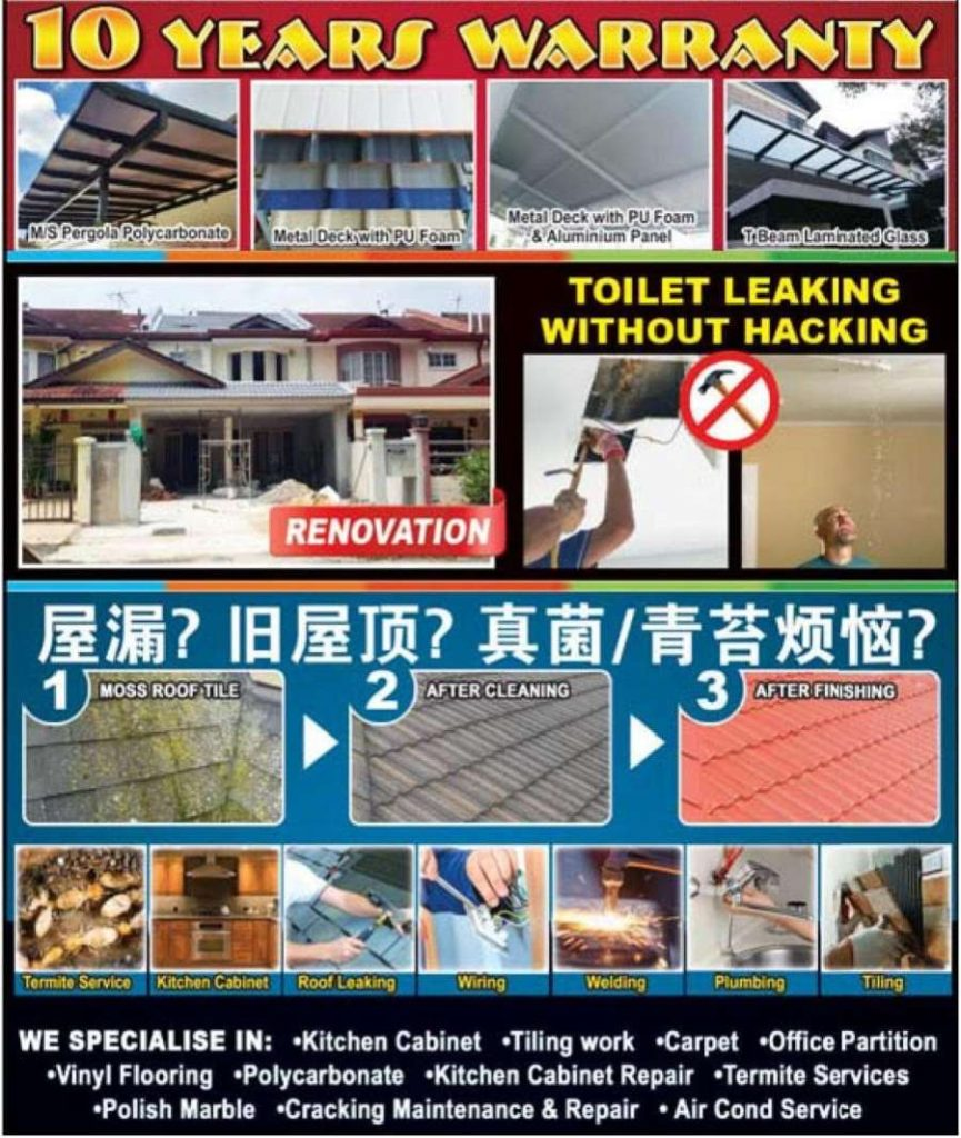 Roof Leaking Puchong Subang